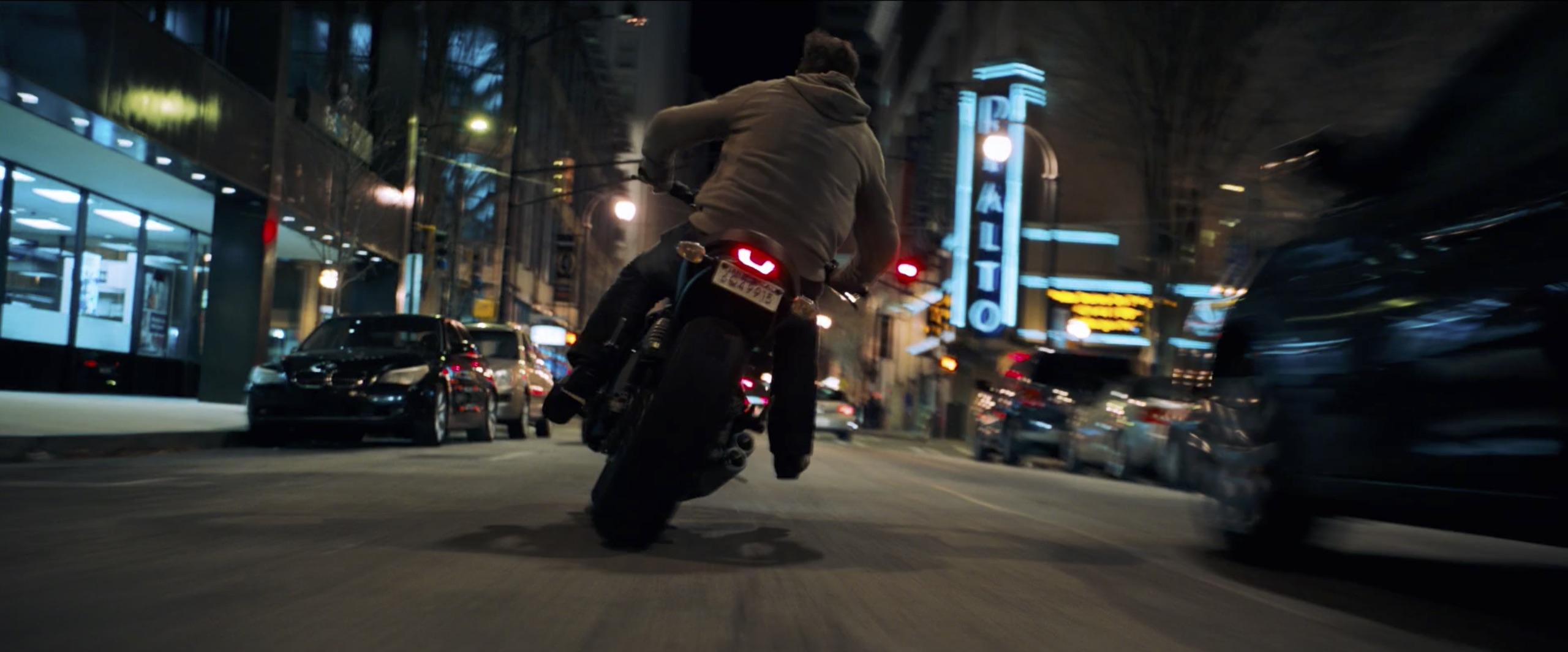 venom tom hardy on motorcycle slide
