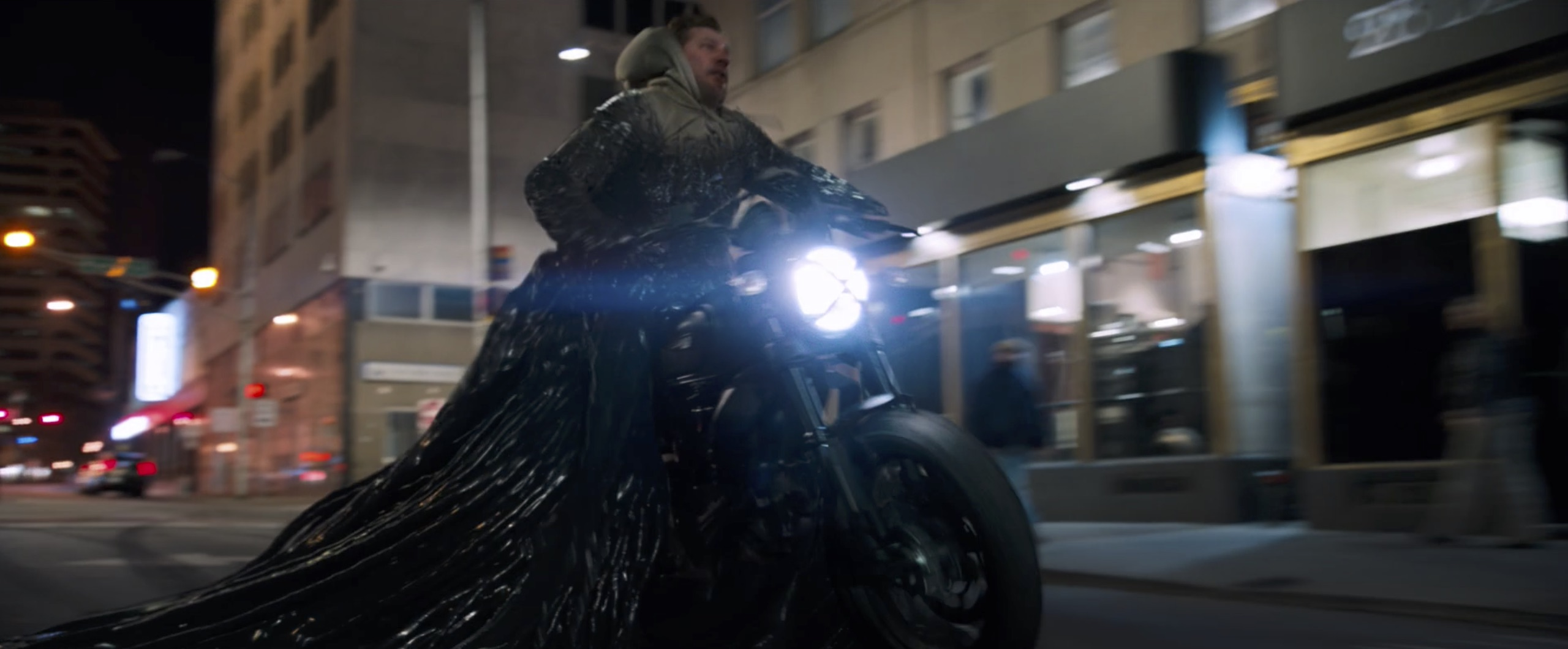 venom motorcycle explosion blue flames