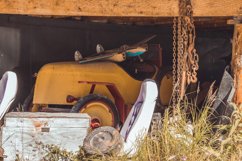 Barn Find Hunter Alaska yellow speedster