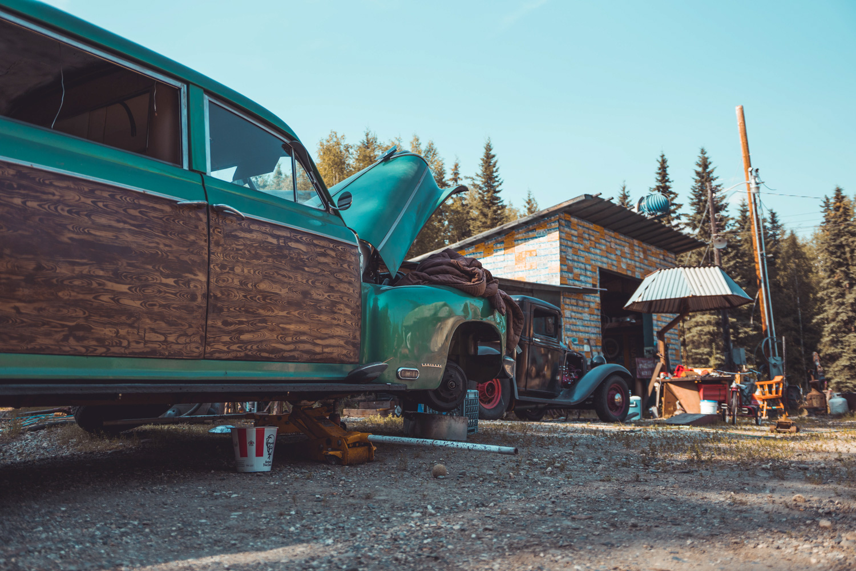 Barn Find Hunter Alaska low suburban on blocks