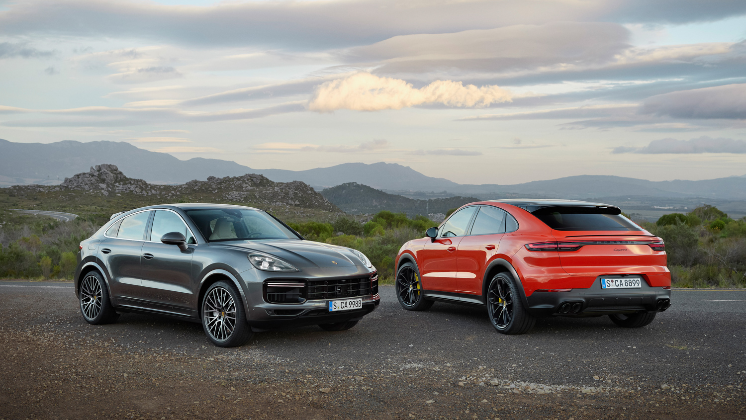 Porsche Cayenne Coupé front and rear