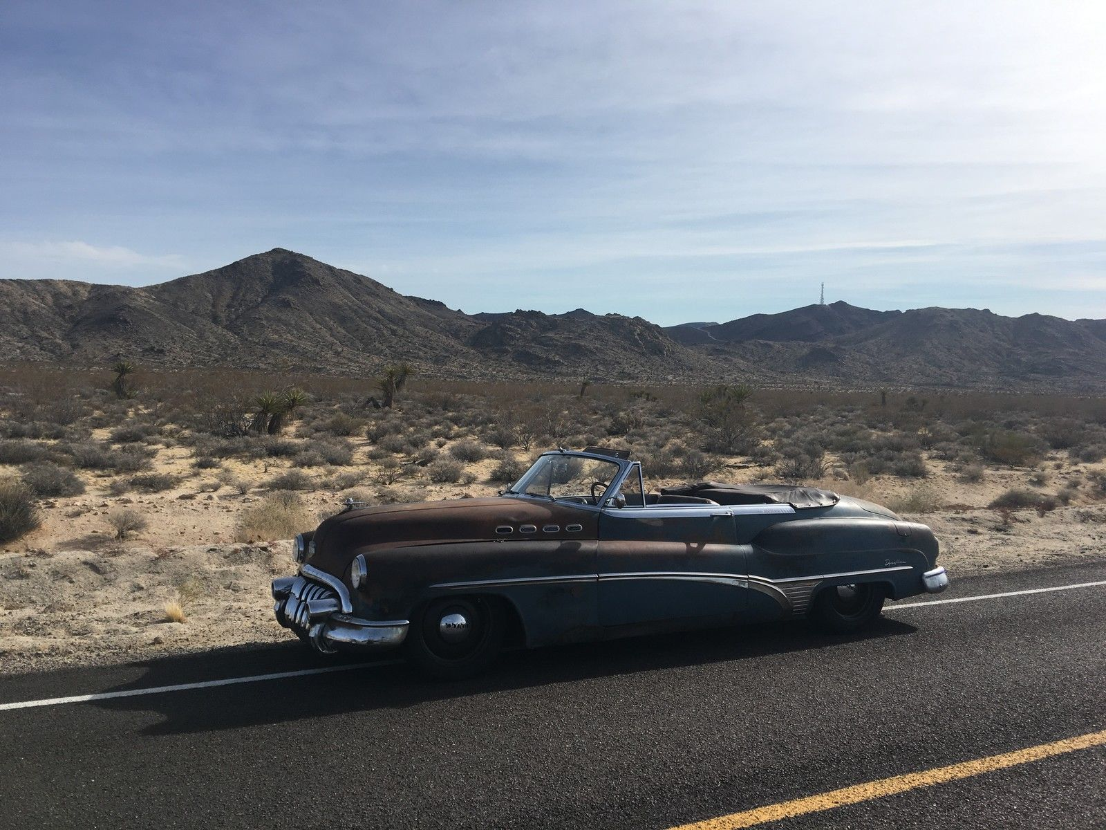 1950 Buick Roadmaster ICON Derelict 3/4 desert mountains