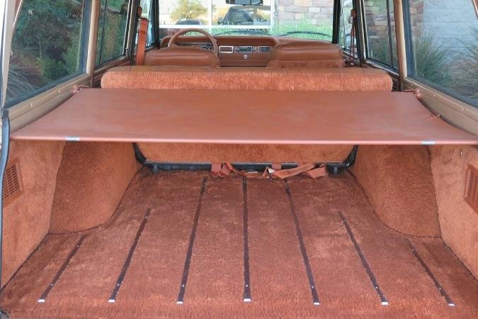 1984 Jeep Grand Wagoneer rear cargo area