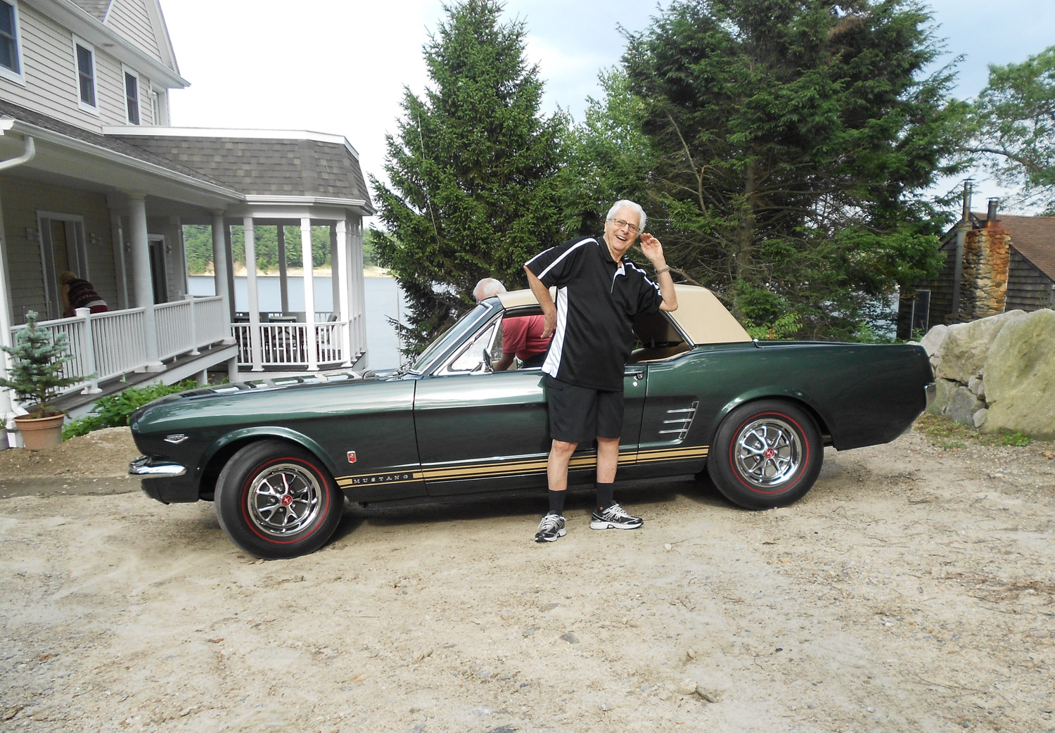 "1966 Ford Mustang ""Retractable Hardtop"" side with owner"
