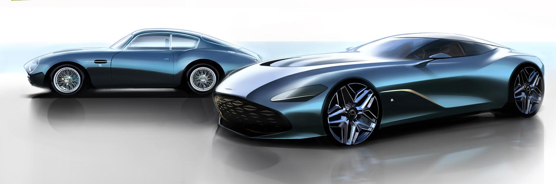 Aston Martin DBS GT Zagato and DB4 GT Zagato Continuation front side