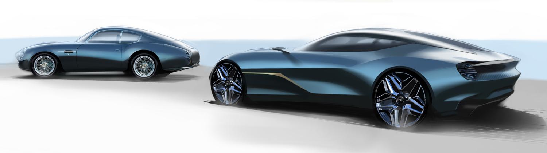 Aston Martin DBS GT Zagato and DB4 GT Zagato Continuation side rear