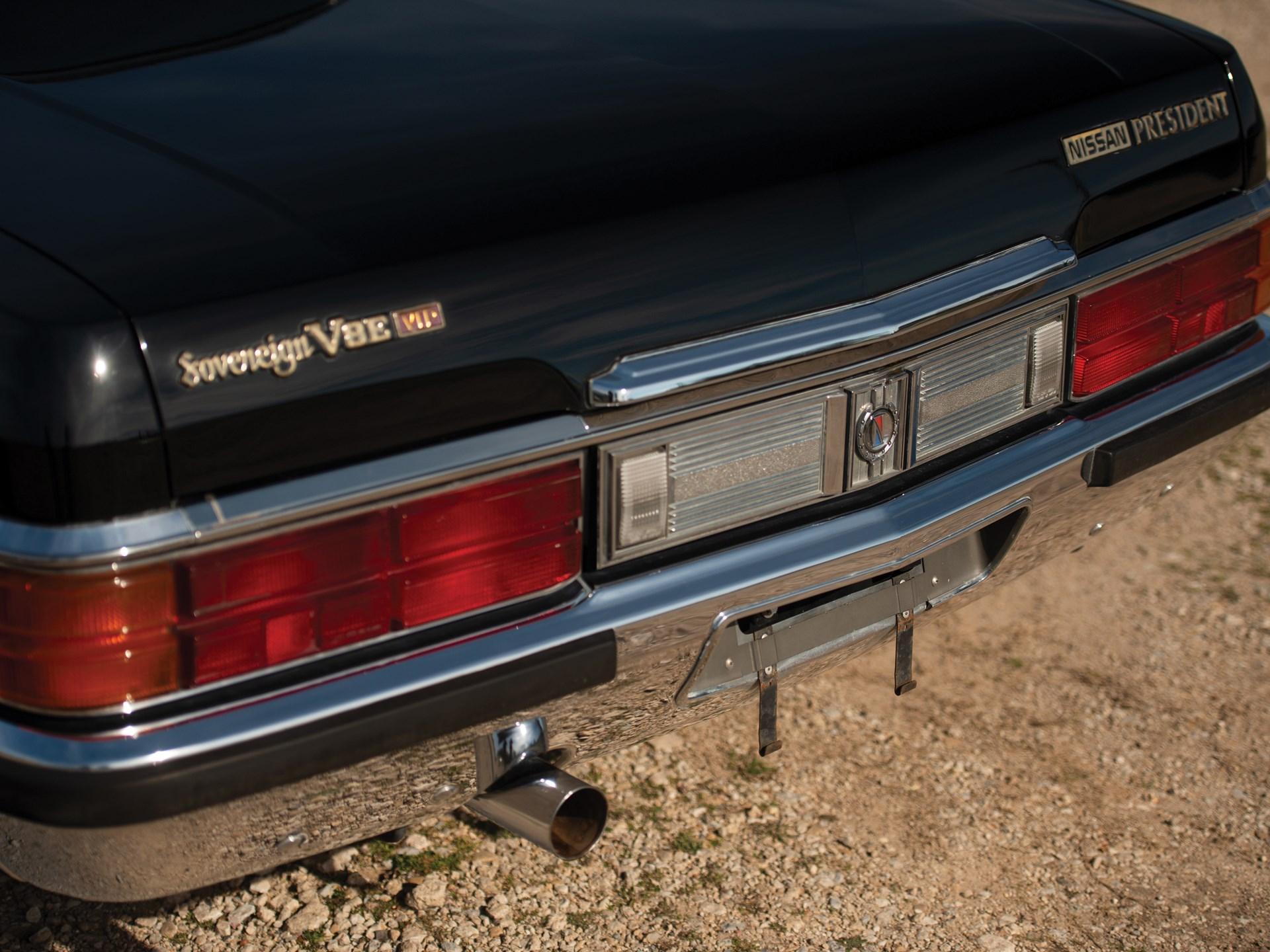 1987 Nissan President Sovereign V8E VIP rear tail detail