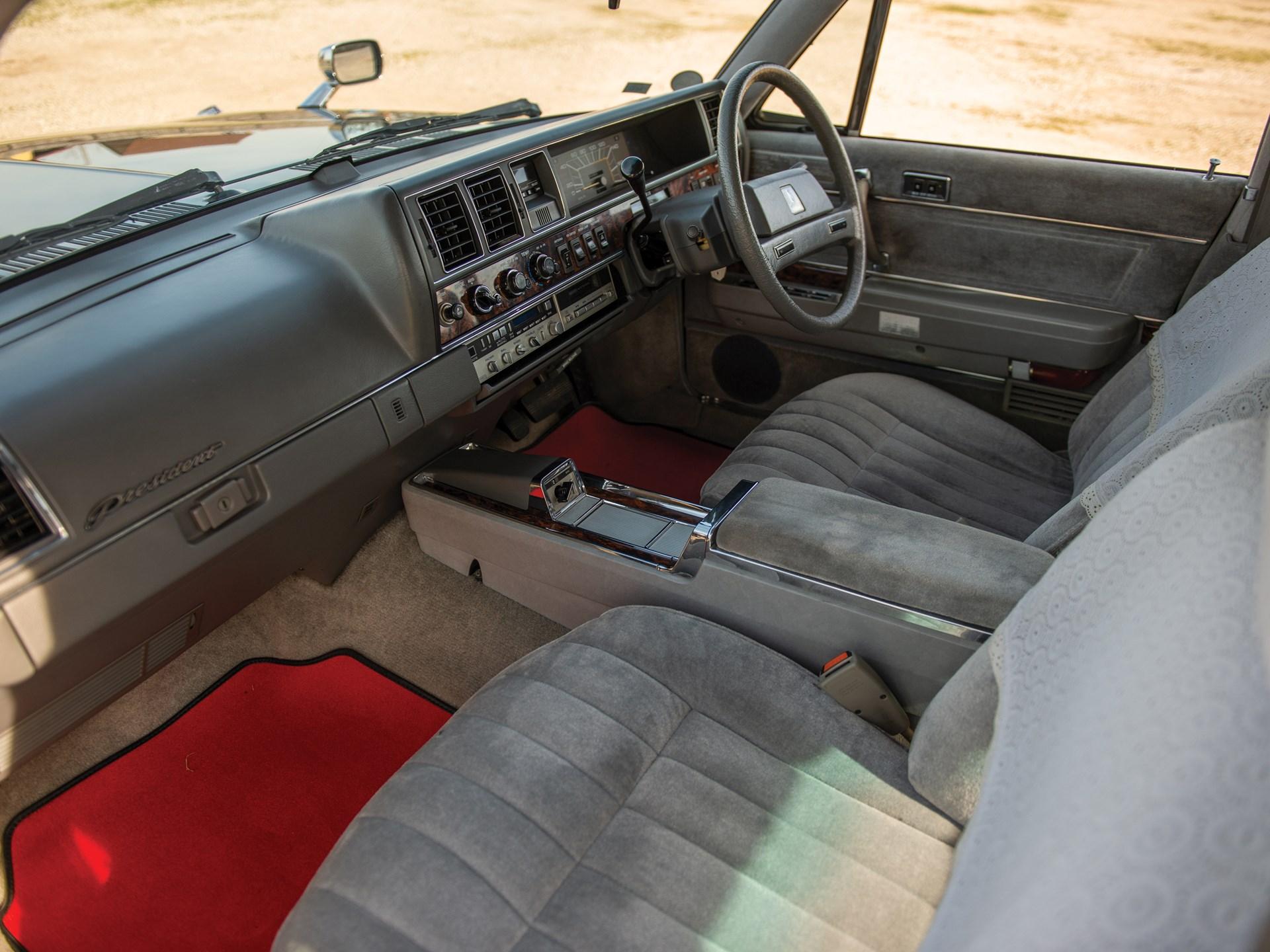 1987 Nissan President Sovereign V8E VIP interior passenger side