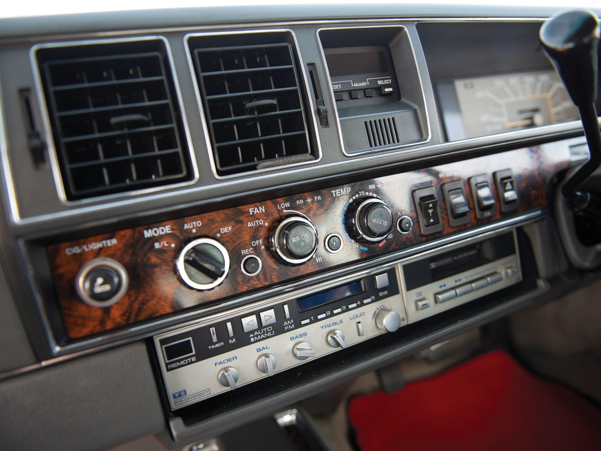 1987 Nissan President Sovereign V8E VIP controls