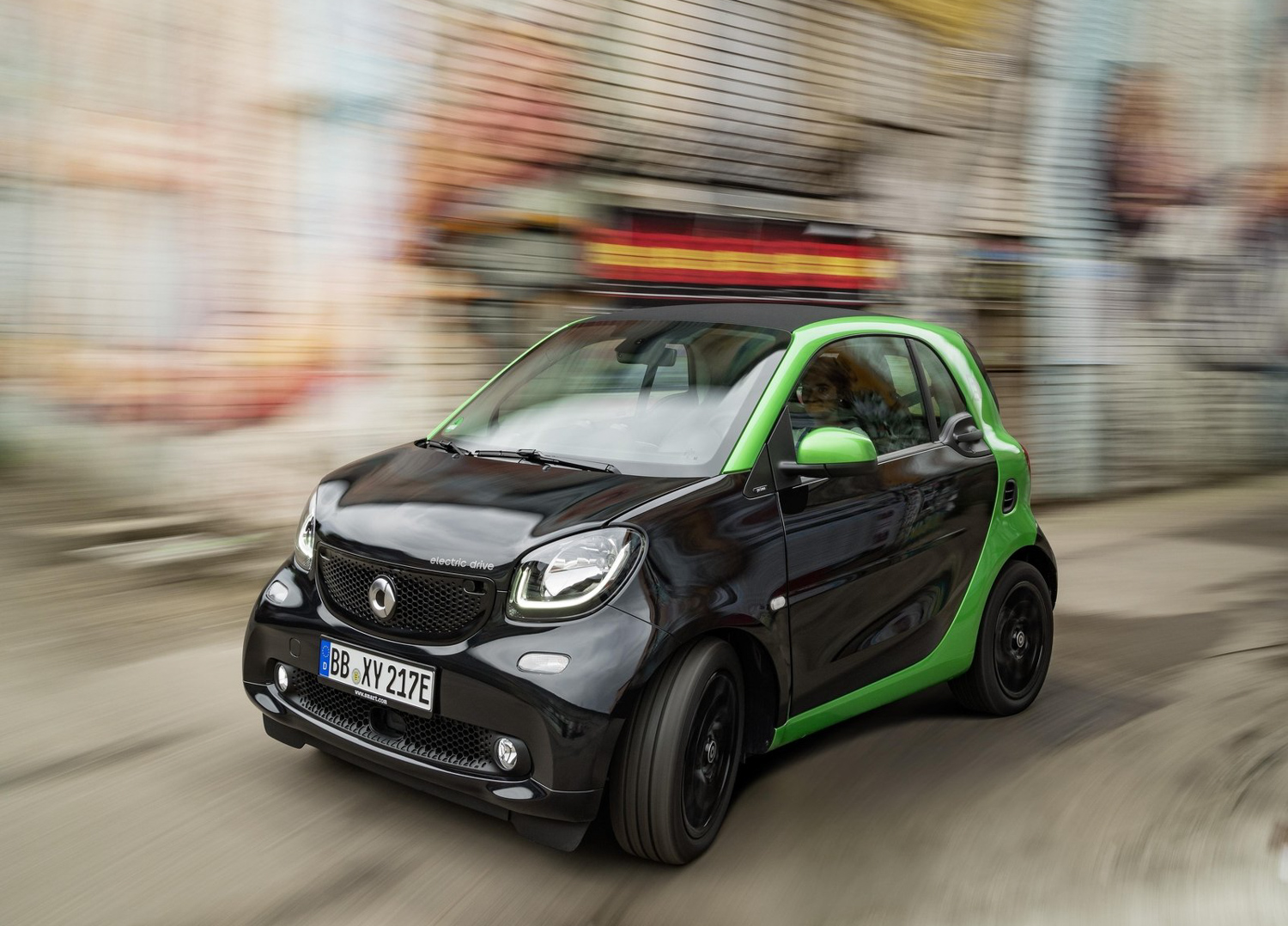 2017 Smart fortwo electric drive interior