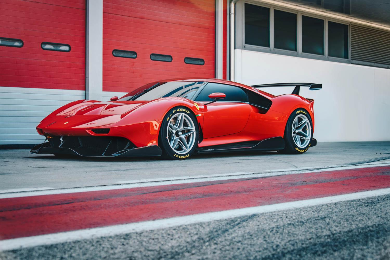 red Ferrari P80/C front 3/4