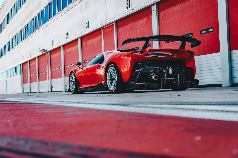 Red Ferrari P80/C rear 3/4