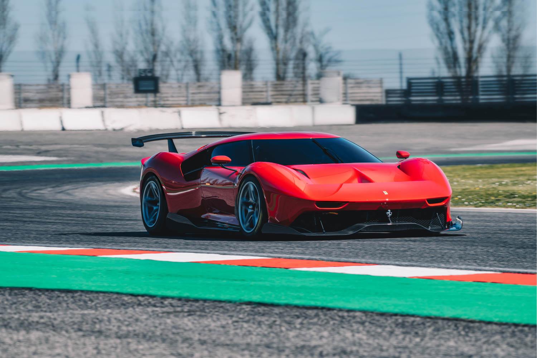 Ferrari P80/C on the track