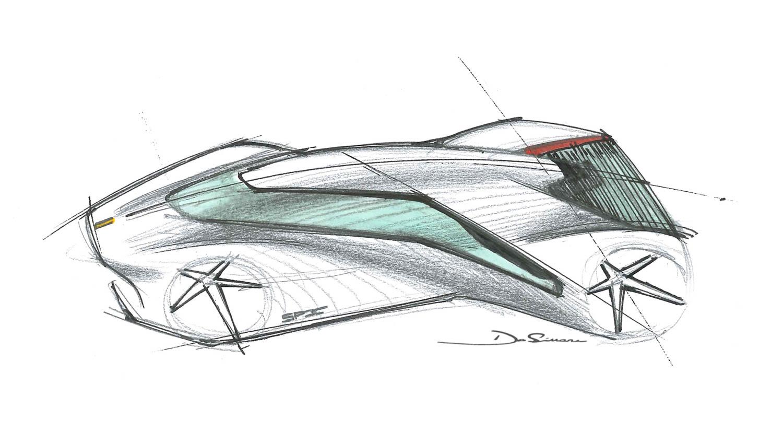 Ferrari P80/C concept drawing