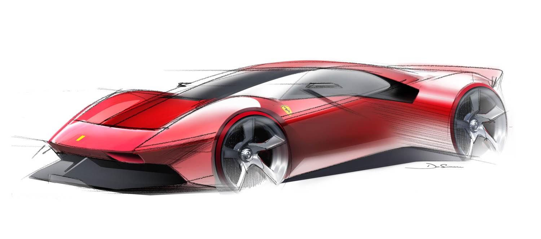 Ferrari P80/C drawing