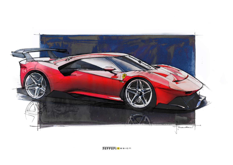 Ferrari P80/C painting