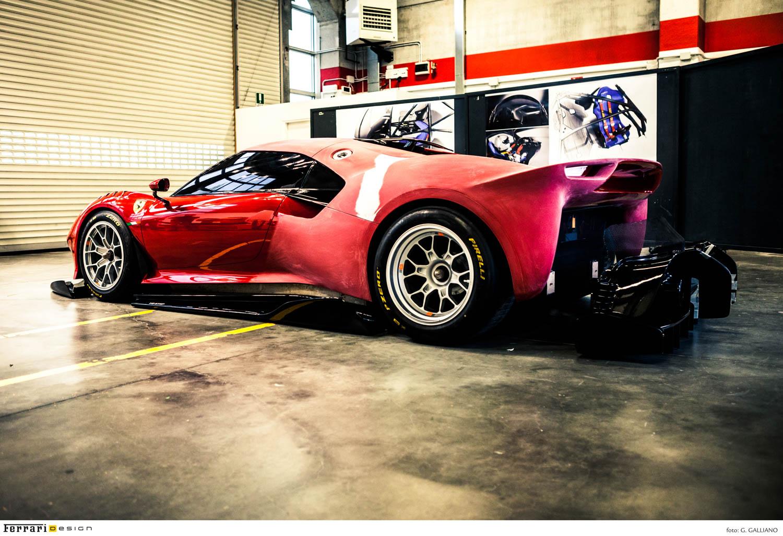 Ferrari P80/C rear 3/4 built
