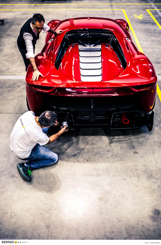 working on the Ferrari P80/C