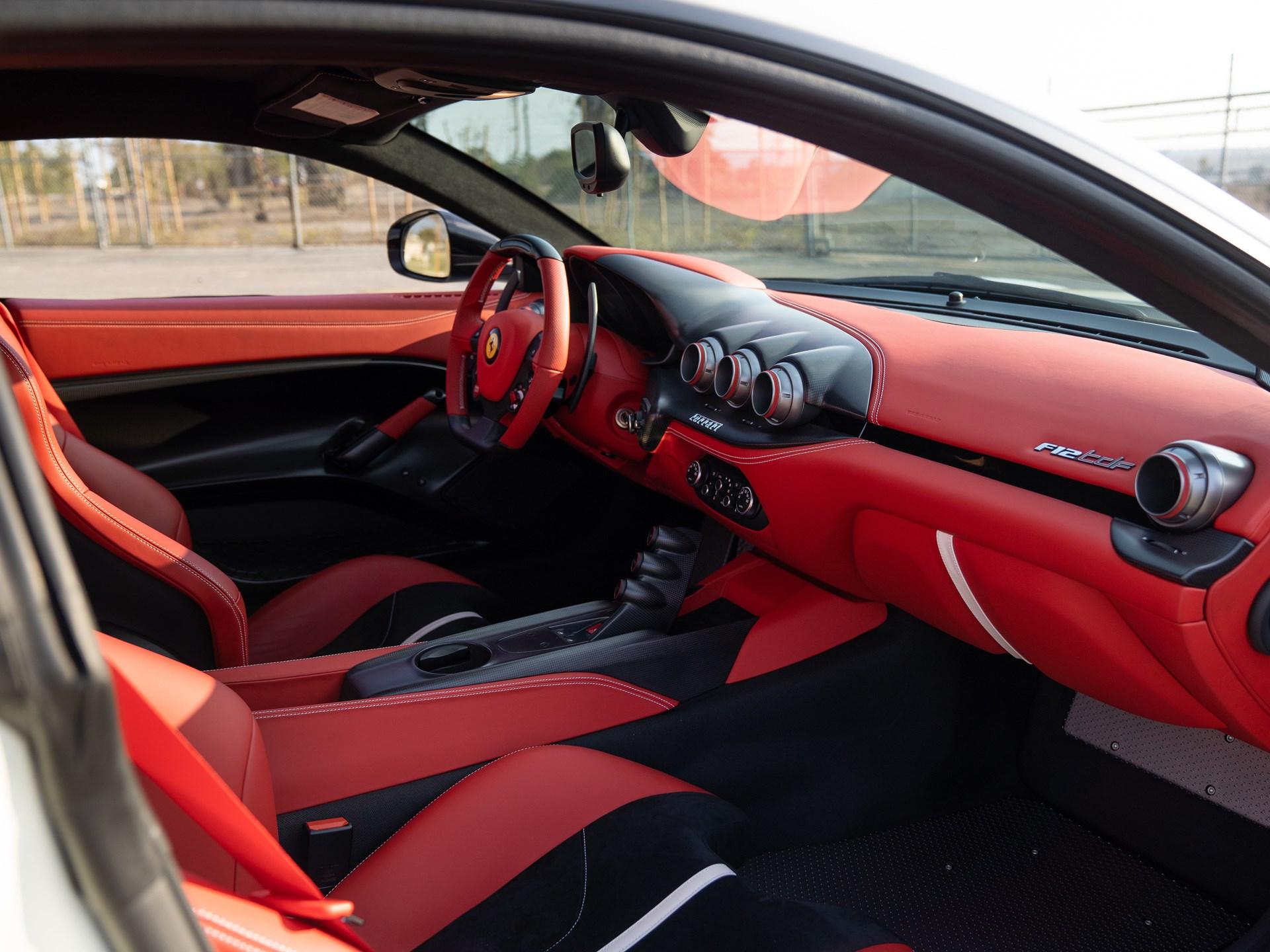 2017 Ferrari F12tdf interior dash passenger