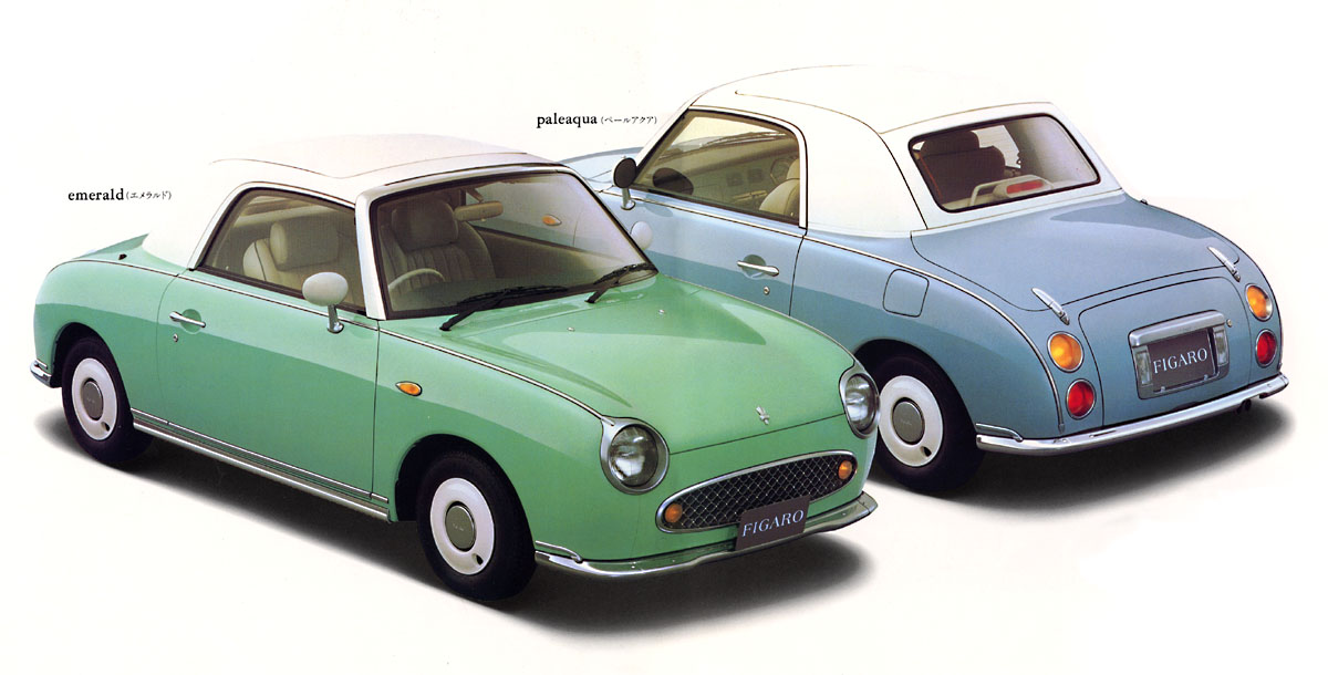 Nissan Figaro front and rear 3/4