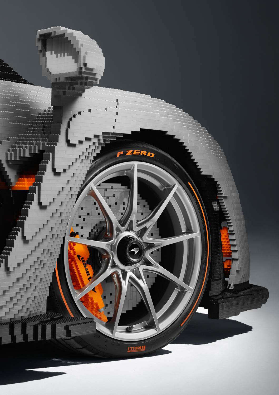 LEGO McLaren Senna wheel detail