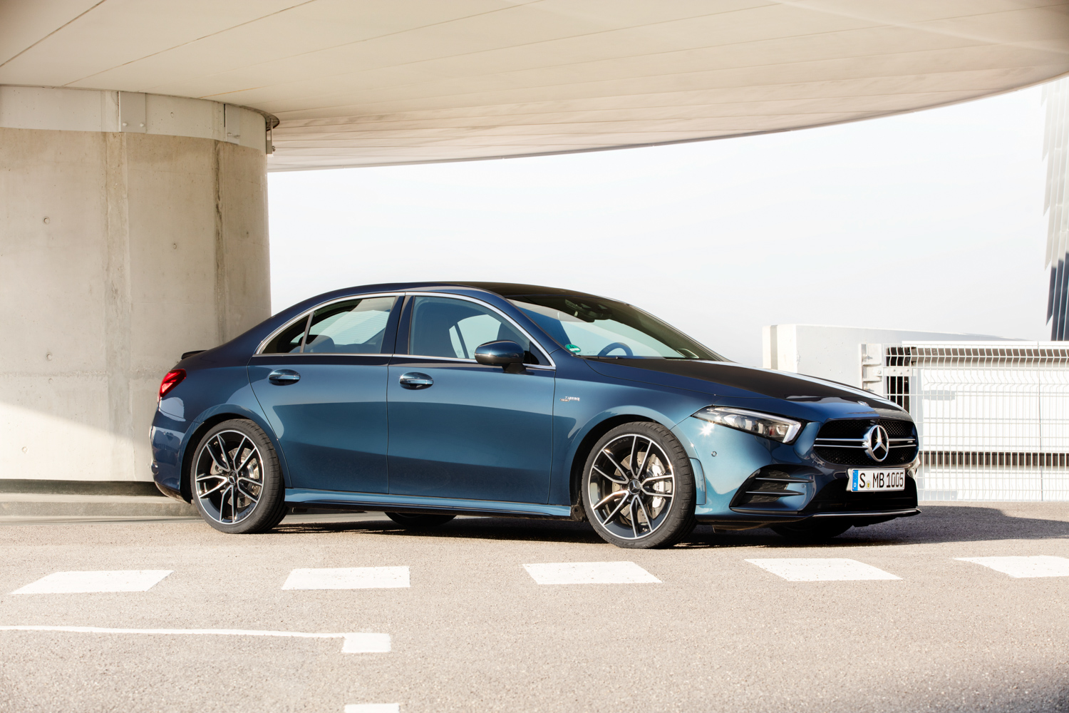 Mercedes-AMG A 35 3/4 parked