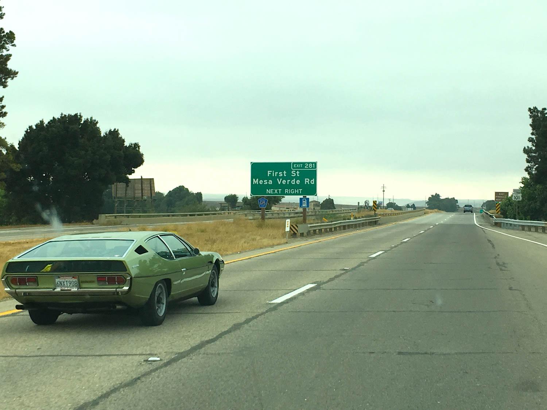 driving a 1970 Lamborghini Espada