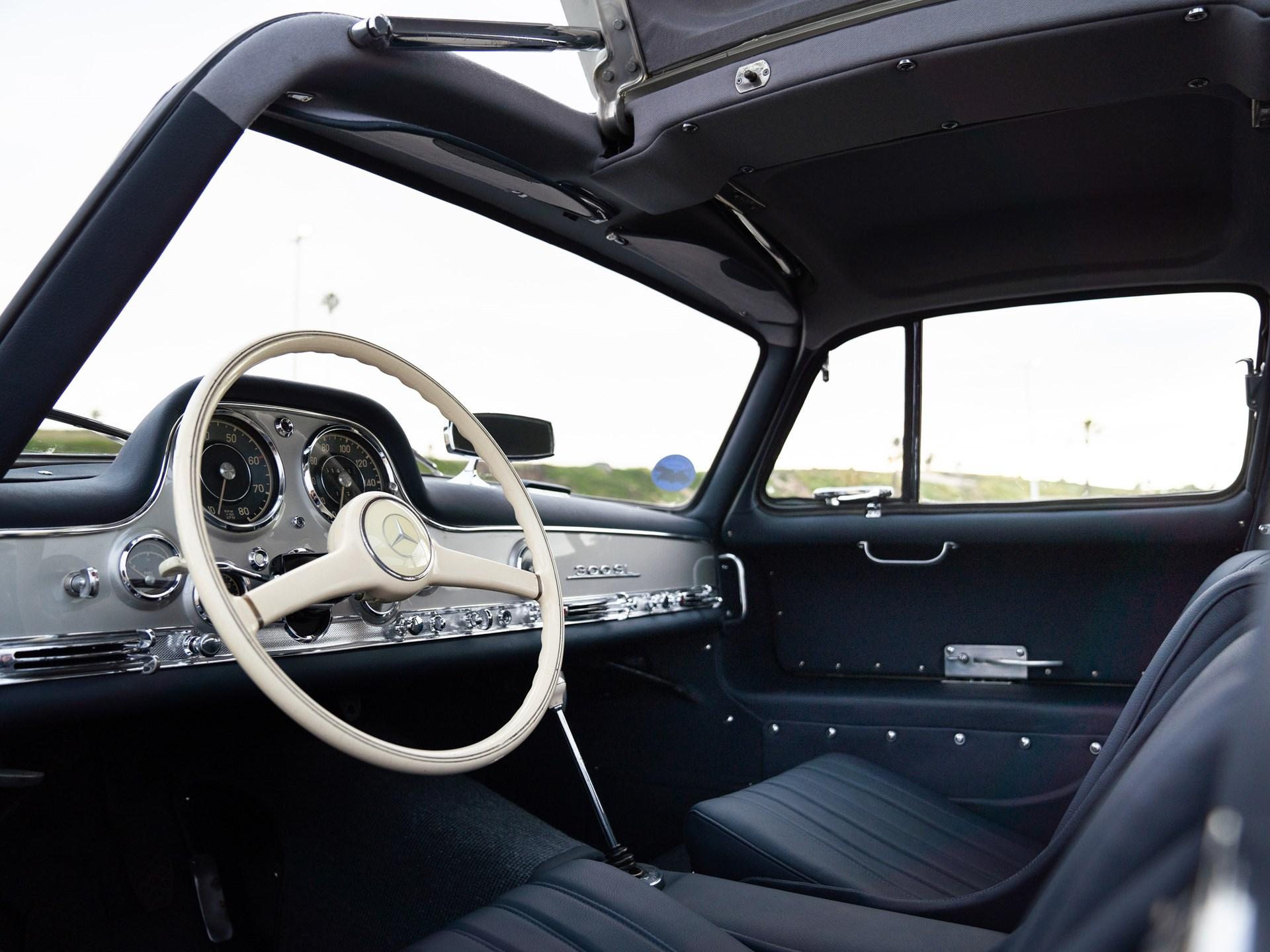 1955 Mercedes-Benz 300 SL Gullwing interior driver