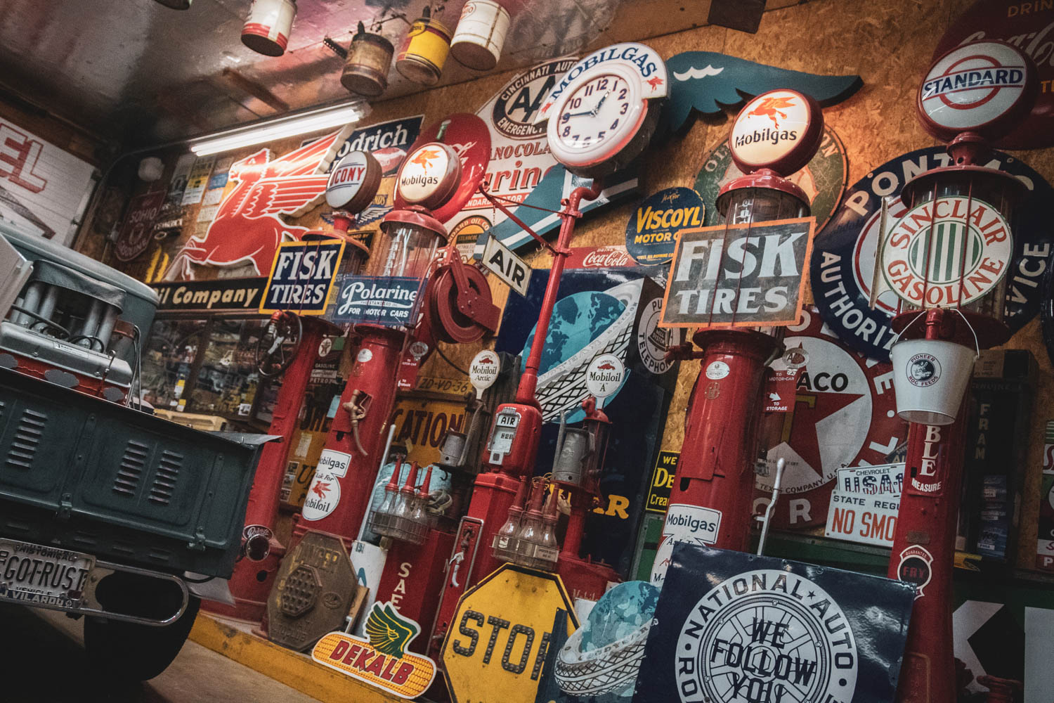 classic gas signs and pumps