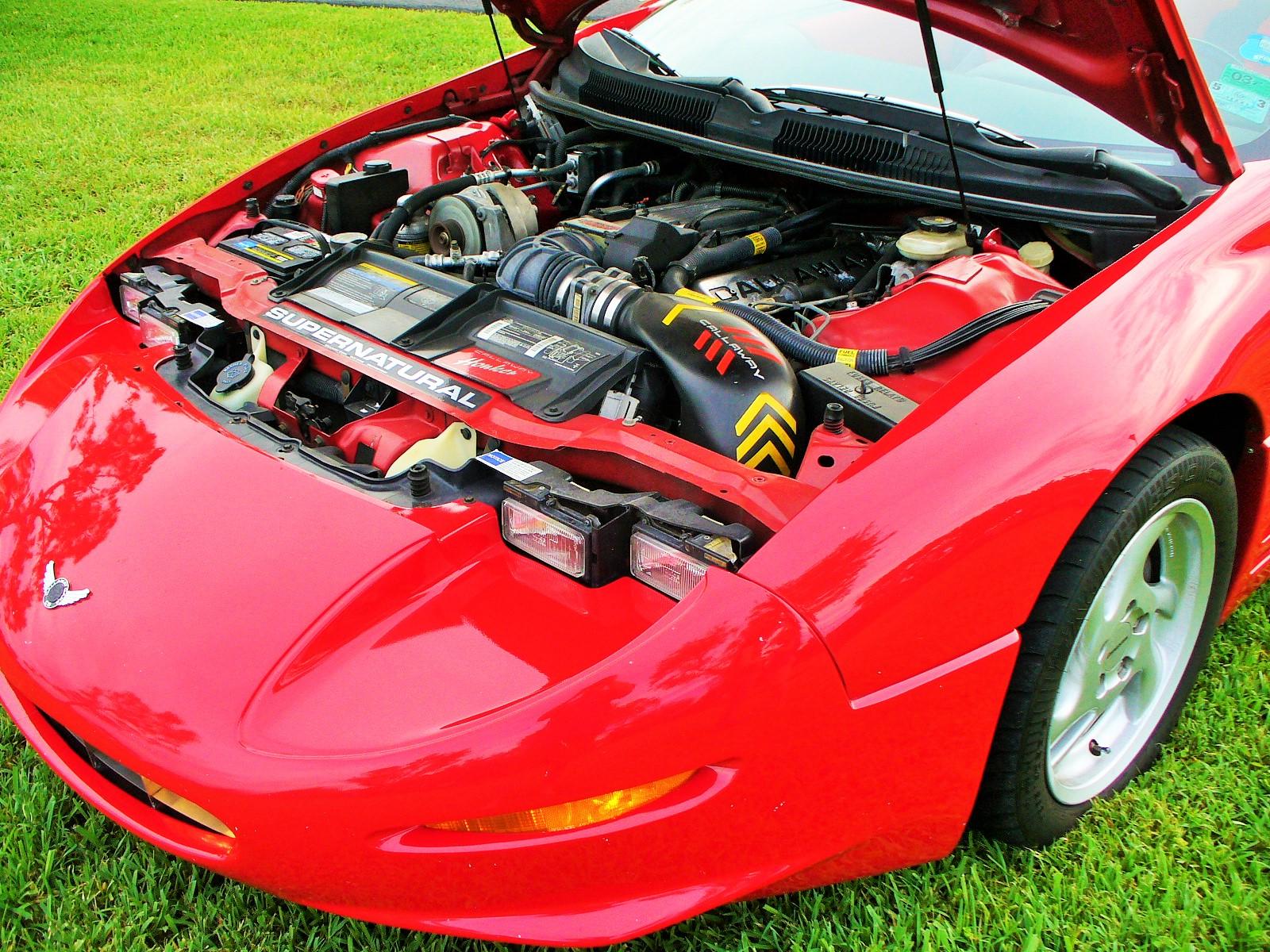 Calloway C8 hood up engine
