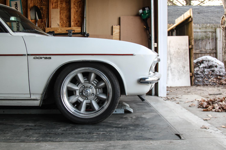 1965 Chevrolet Corvair Corsa front wheel