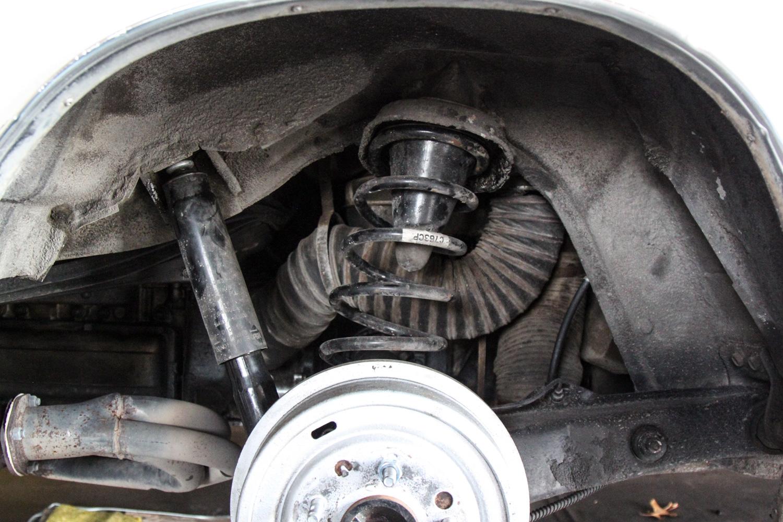 1965 Chevrolet Corvair Corsa rear spring wheel well