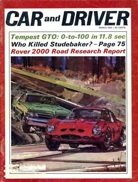 Car and Driver GTO vs GTO magazine cover