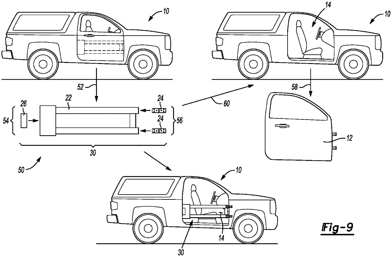 Bronco removable door attatchment