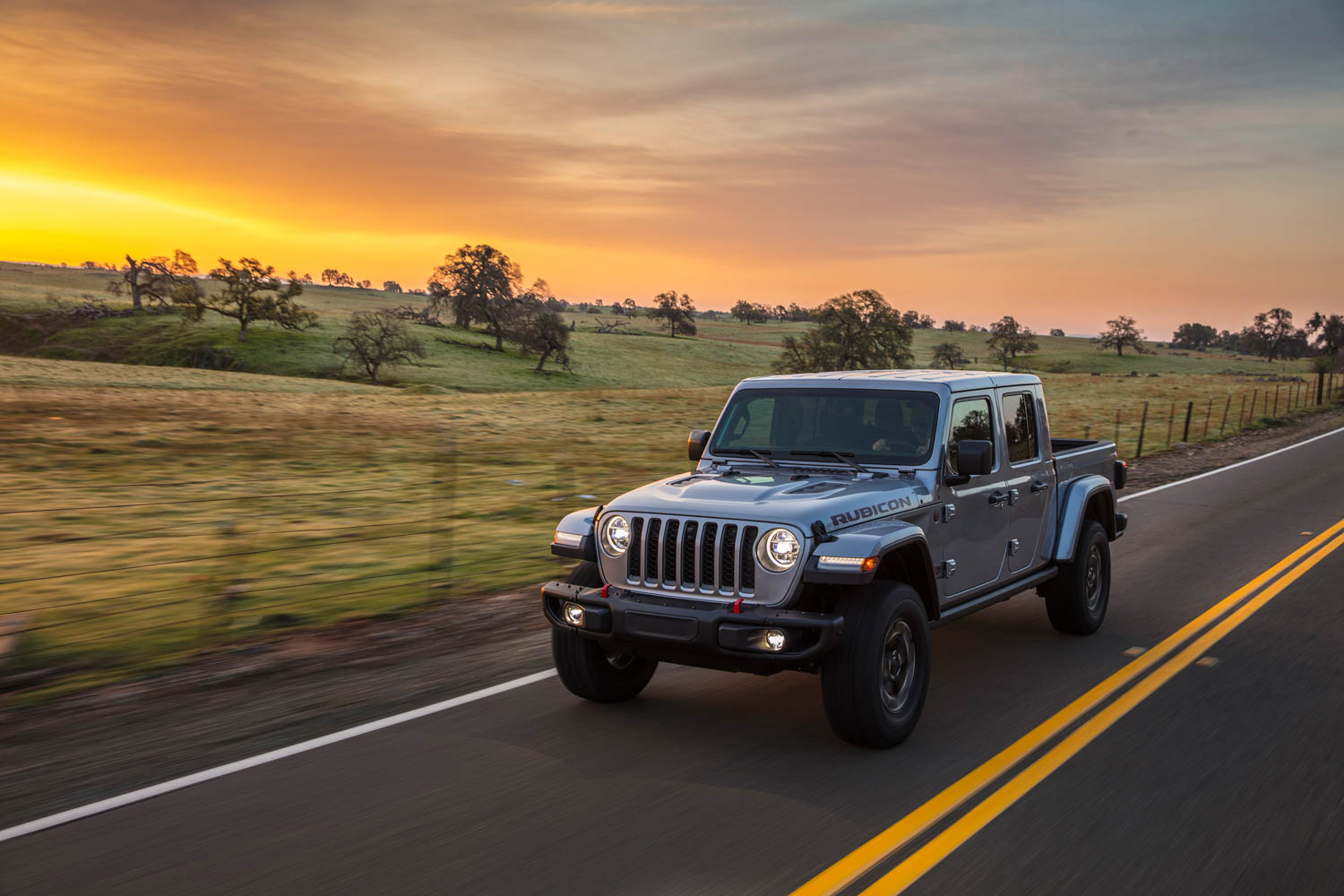 2020 Jeep Gladiator front 3/4 at sunset