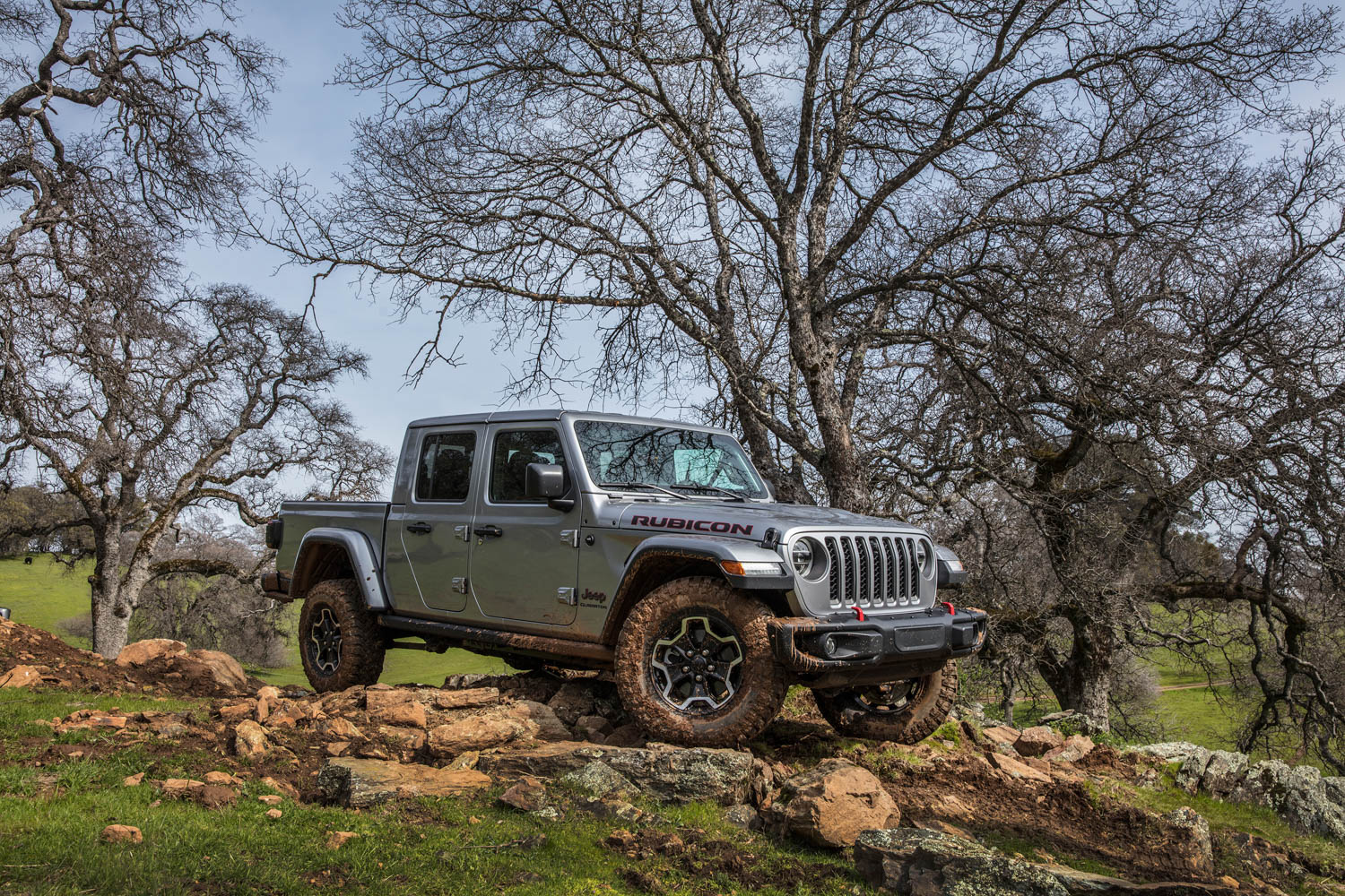 2020 Jeep Gladiator Rubicon front 3/4