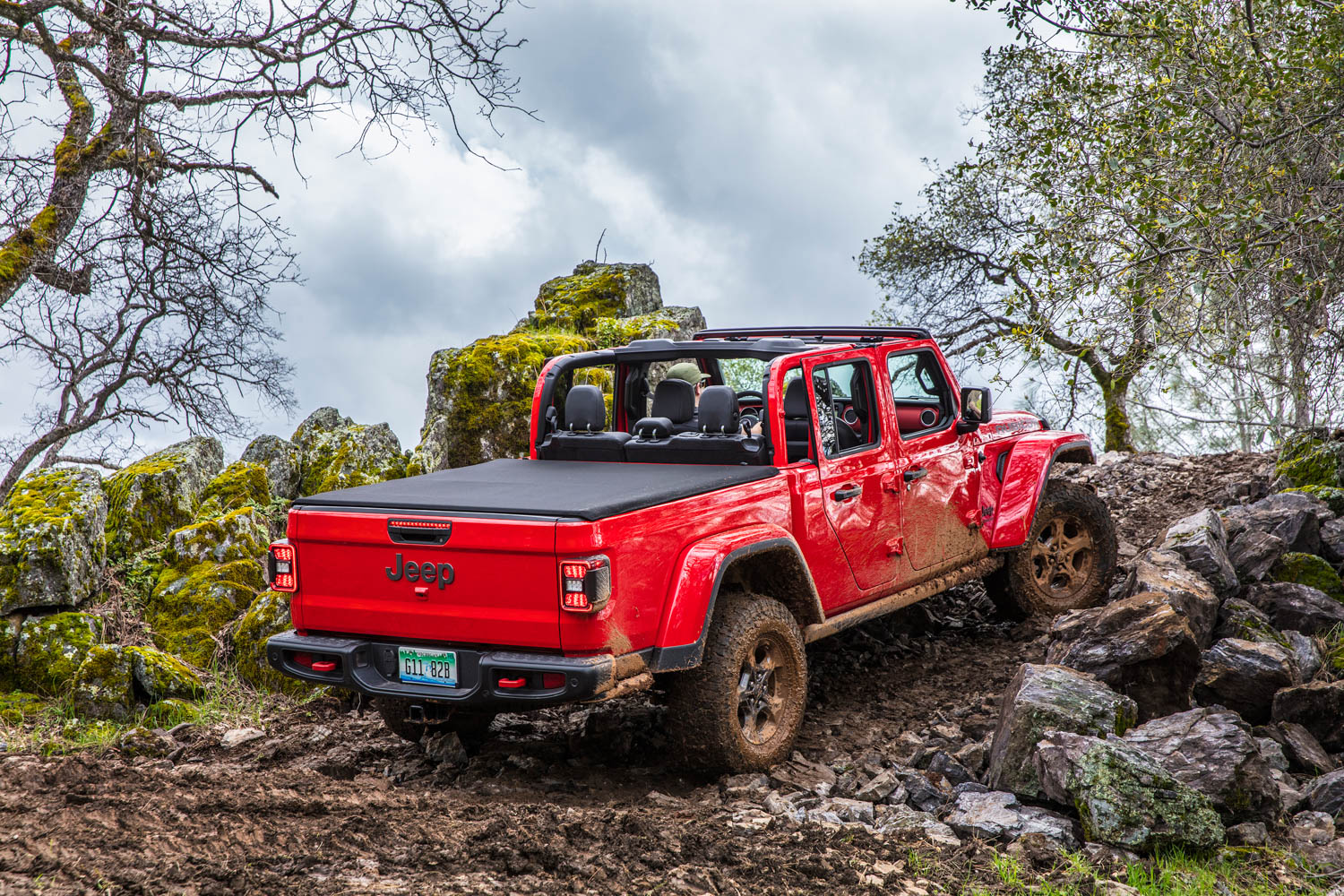top down 2020 Jeep Gladiator
