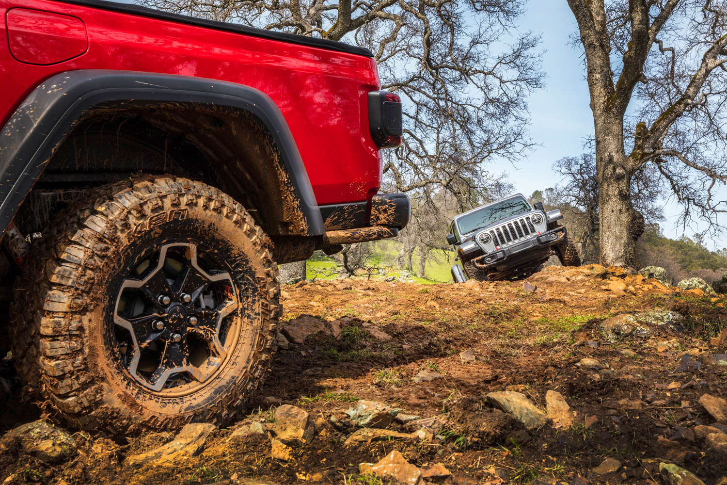 2020 Jeep Gladiator mudding