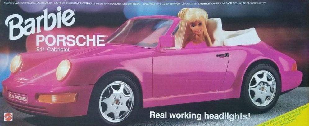 Barbie 1991 Porsche 911 Carrera Cabriolet