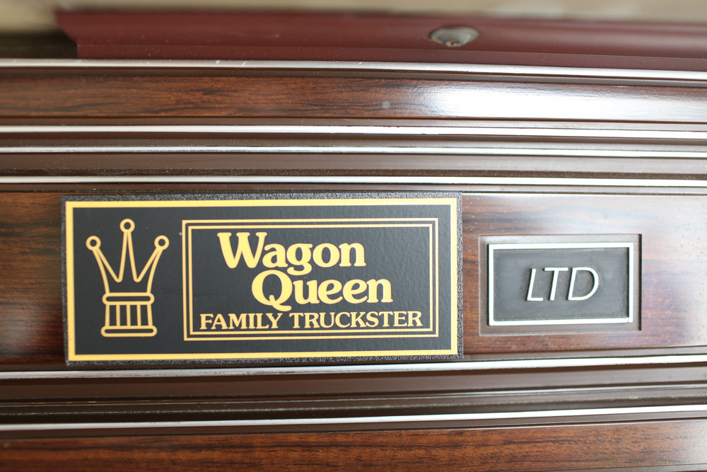 "1981 Ford LTD Station Wagon ""Family Truckster"" interior badge"