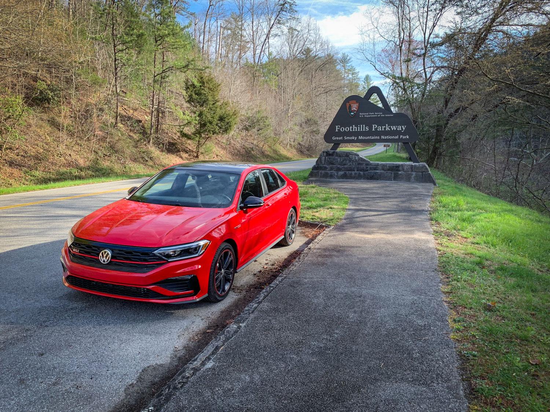 Red 2019 Volkswagen Jetta GLI Foothills Parkway