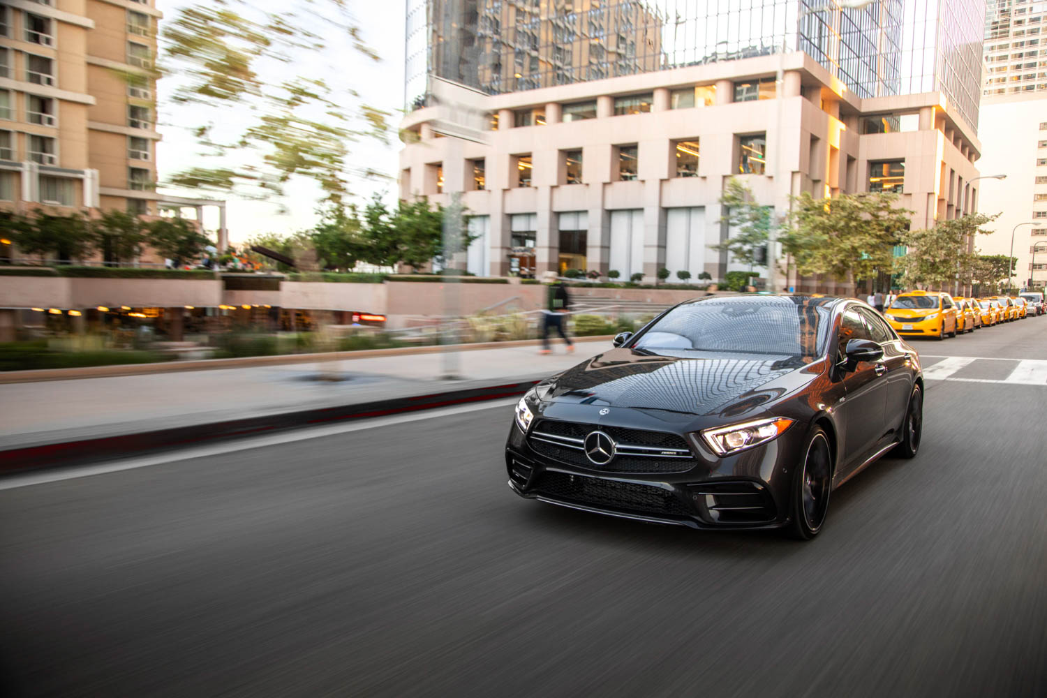 2019 Mercedes-AMG CLS53 driving front 3/4