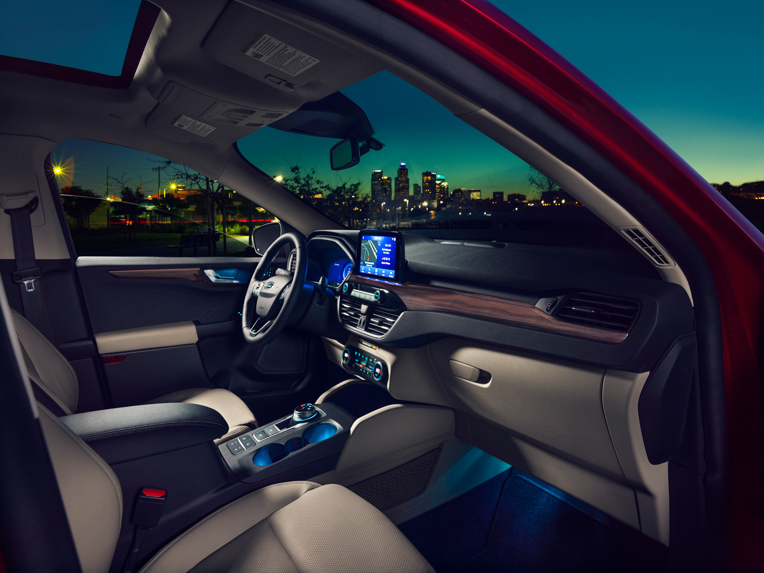 2020 Ford Escape interior passenger side