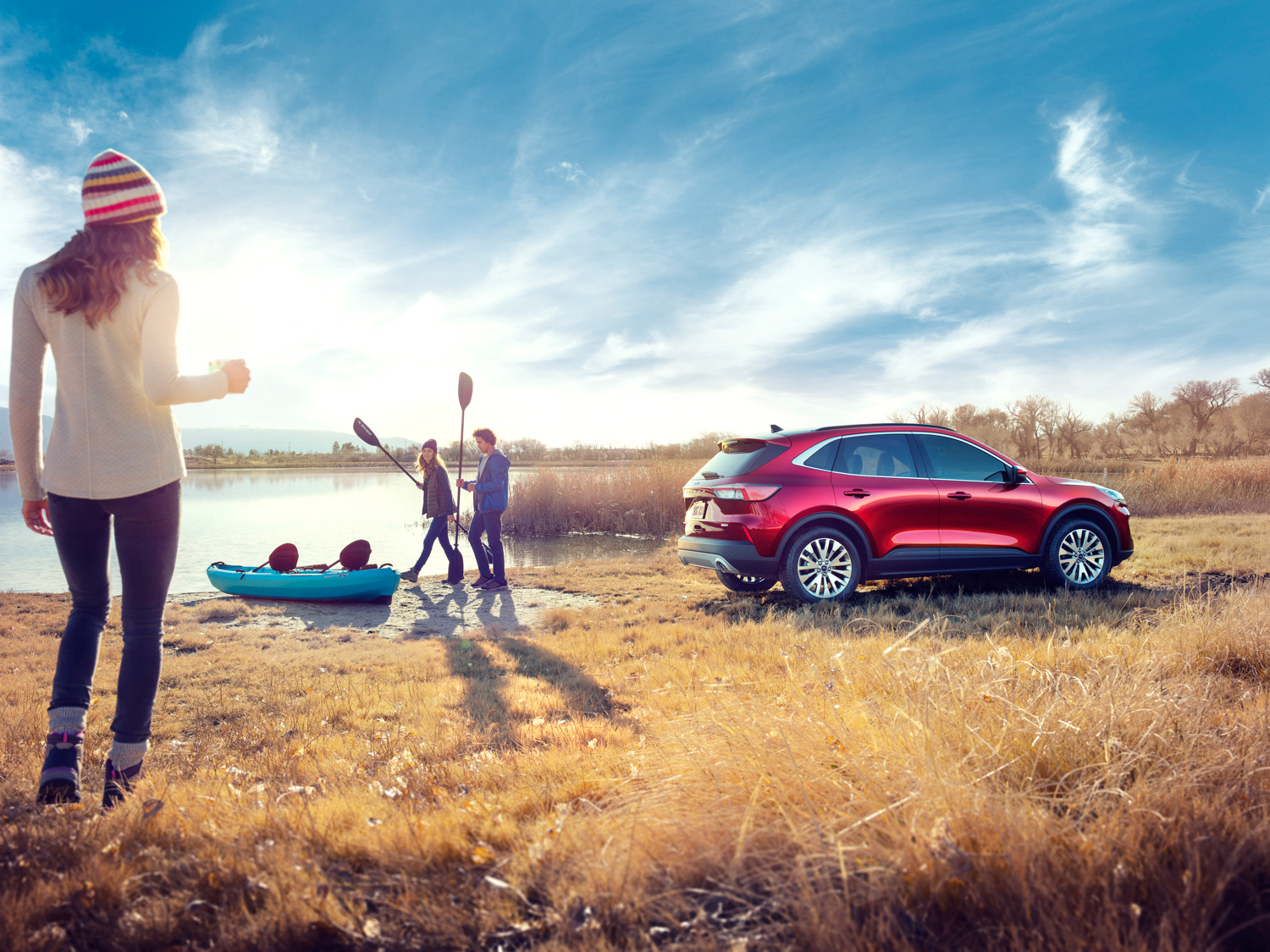 2020 Ford Escape with kayak