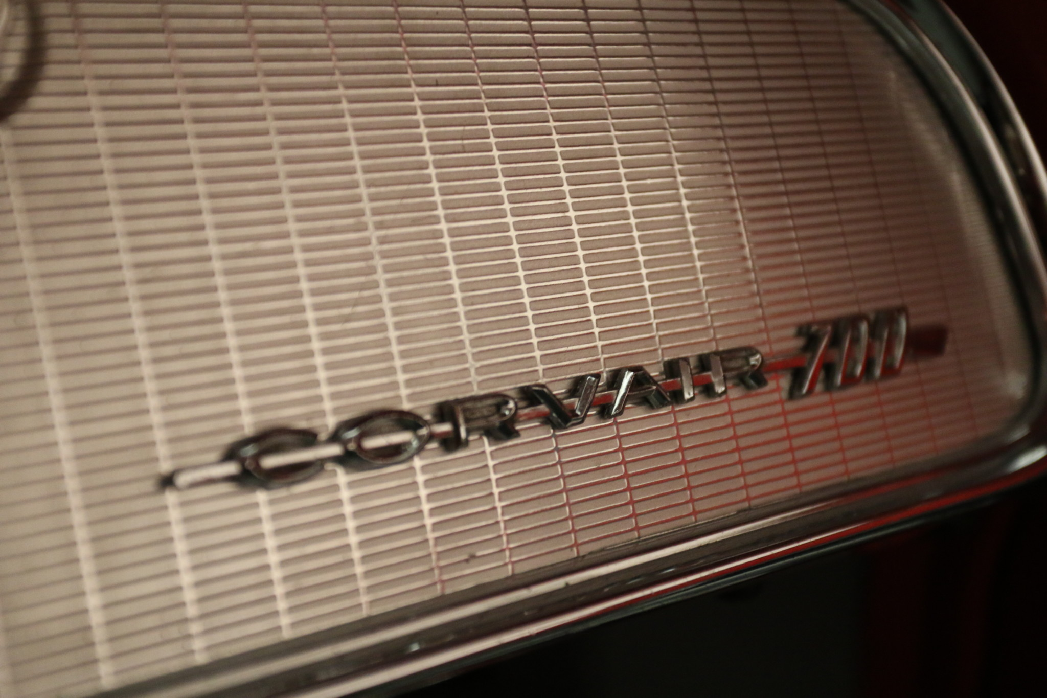 1960 Chevrolet Corvair 700 interior badge