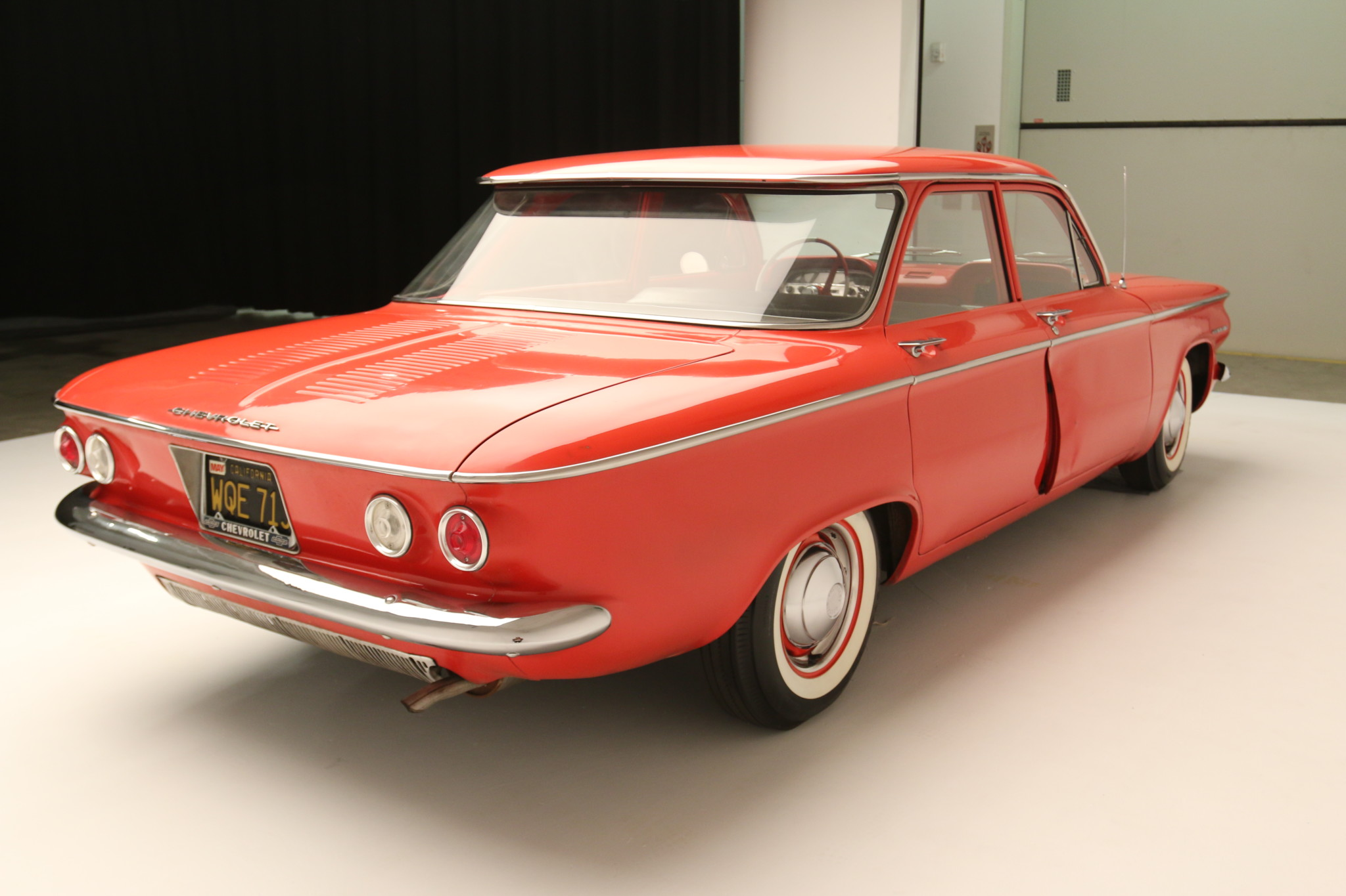 1960 Chevrolet Corvair 700 3/4 rear damage