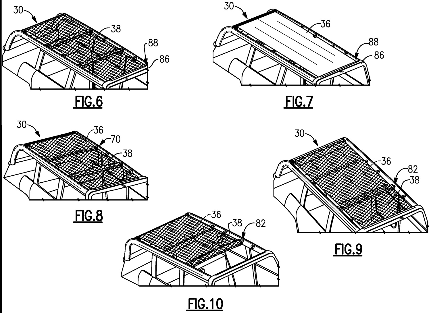 Soft top roof patent
