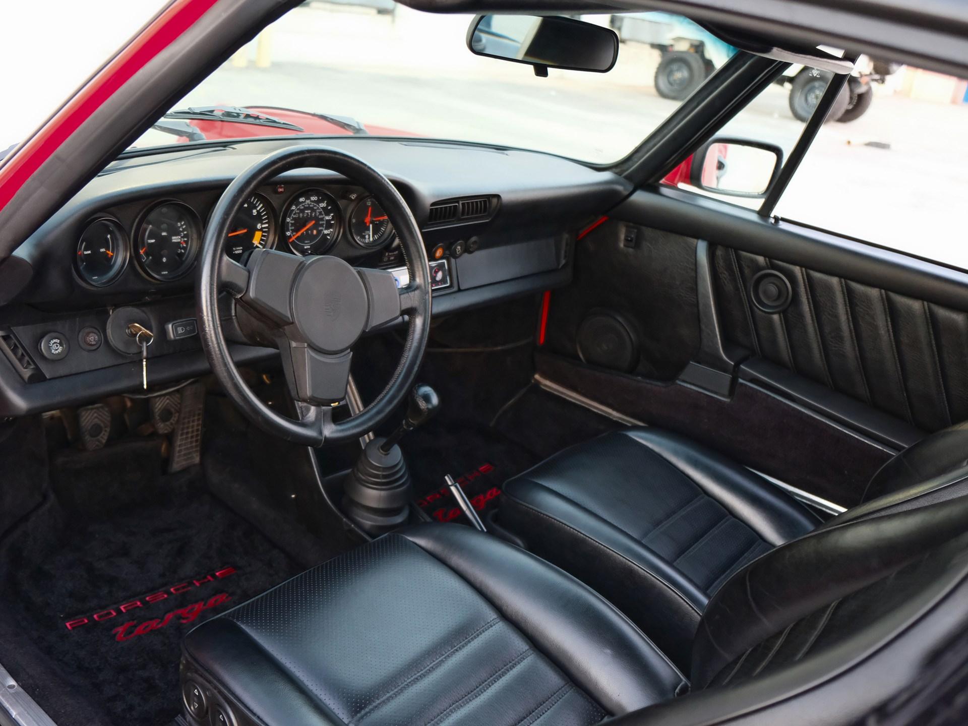 1980 Porsche 911 SC Targa interior driver