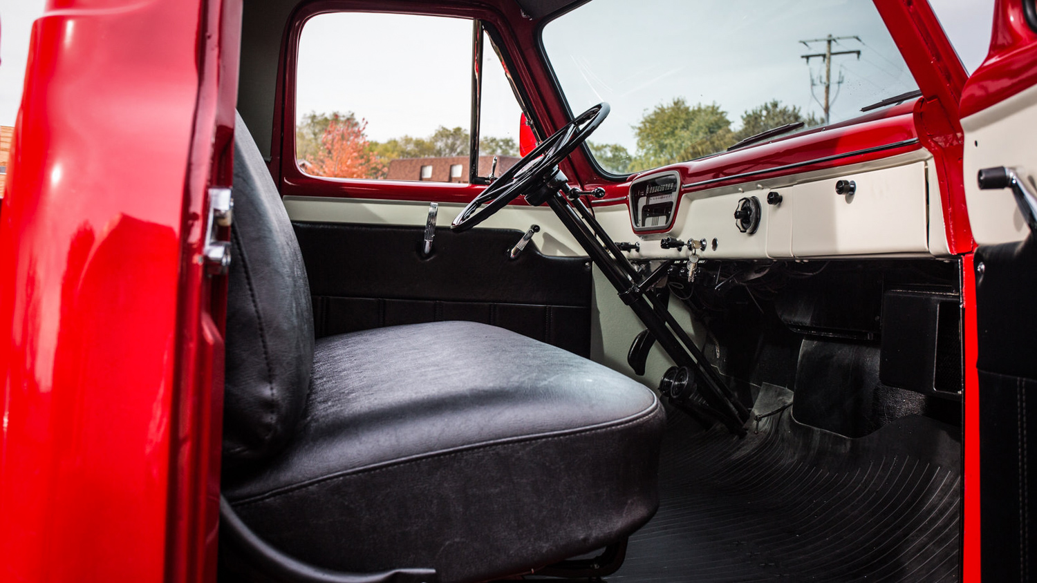 1955 Ford F100 passenger interior
