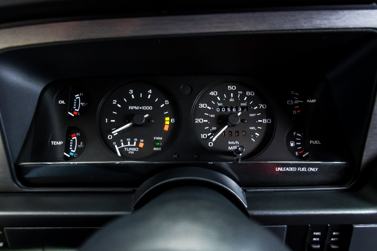 1987 Ford Thunderbird Turbo Coupe gauges